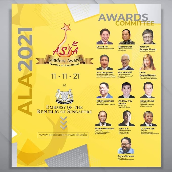The different countries in unity at the Asia Leaders Awards 2021