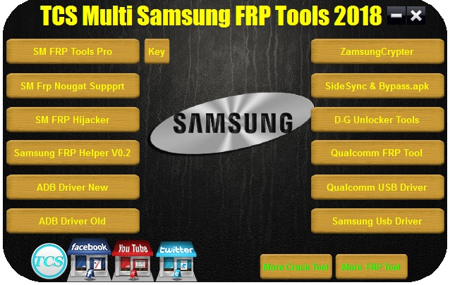 TCS Multi Samsung FRP Tools Pack 2018