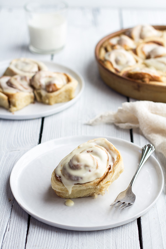 Easy Fluffy Eggnog Cinnamon Rolls recipe by Half Baked Harvest