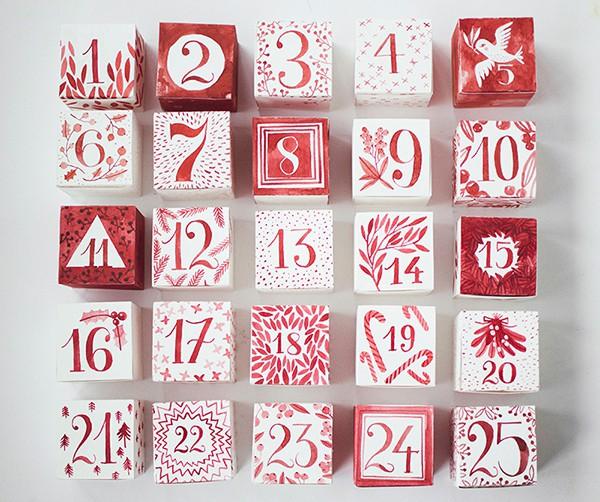 http://www.hellobee.com/2014/11/26/diy-watercoloradvent-calendar-printable/