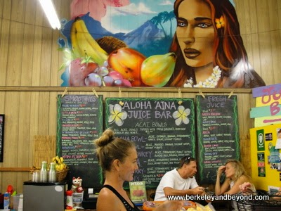Aloha 'Aina Juice Bar at Kuluiula Market in Koloa, Kauai, Hawaii