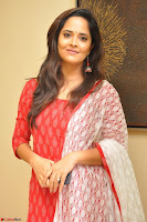 Anasuya Bharadwaj in Red at Kalamandir Foundation 7th anniversary Celebrations ~  Actress Galleries 036.JPG