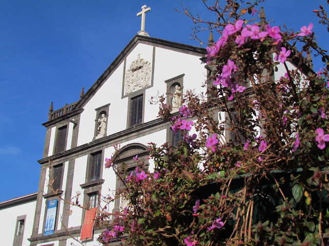 Colégio church and the flowers