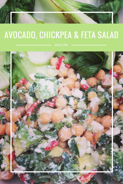 Avocado, Chickpea & Feta Salad Recipe