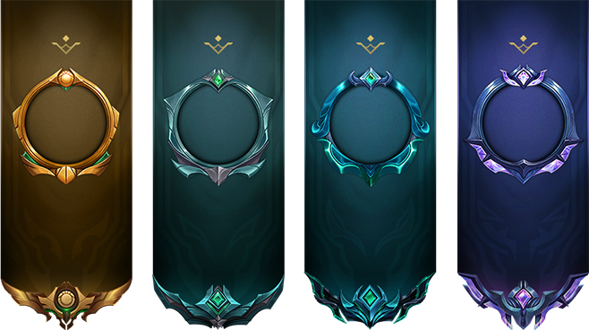 The banner for the rankings in gold, platinum, emerald and diamond