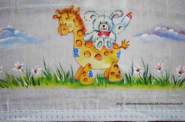pintura em tecido infantil fralda