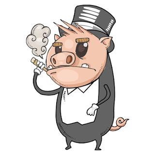 Resultado de imagem para porcos engravatados