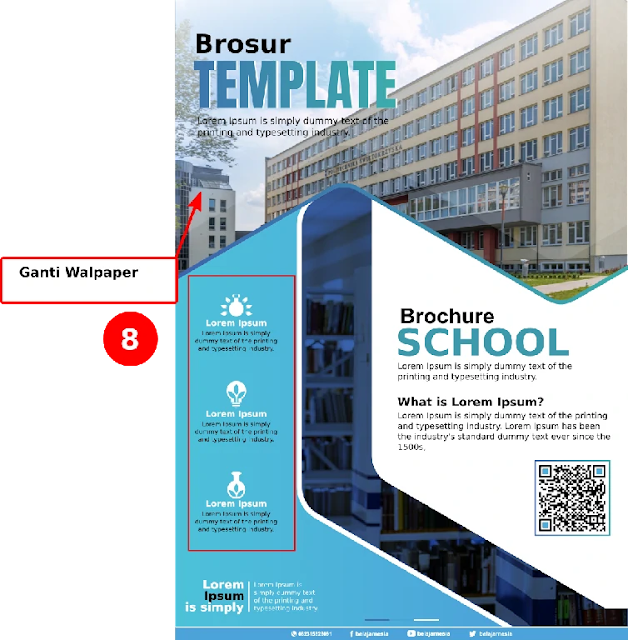 Free File Brosur : Download Brosur PPDB Compatible CorelDraw & Illustrator