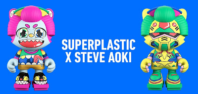 Neon Future & Playhouse Janky Vinyl Figures by Steve Aoki x Superplastic