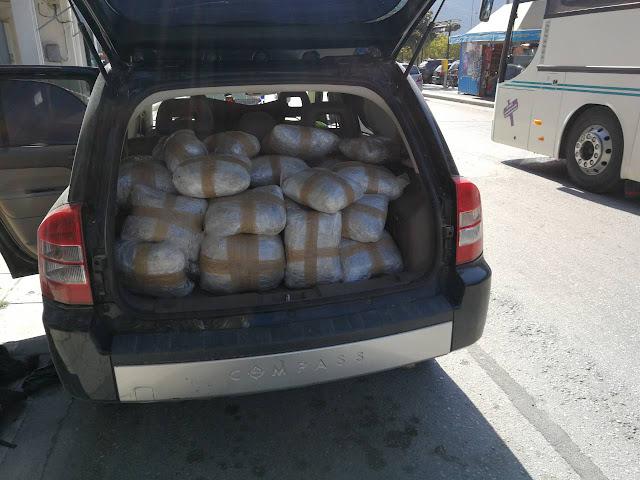 Συνελήφθησαν στην Κορίτιανη Θεσπρωτίας δύο αλλοδαποί με 74 κιλά κάνναβης και πάνω από 2 κιλά κατεργασμένη κάνναβη «σοκολάτα»