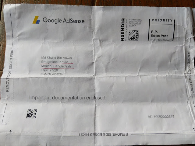 Google adsense sent to pin code in  post office.