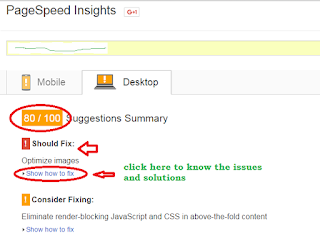 Pagespeed insights to check speed of templates and websites