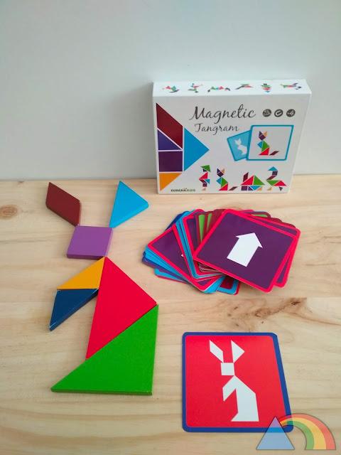 Tangram magnético con tarjetas