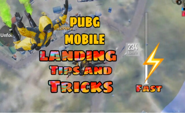 PUBG Mobile Landing Tips and Tricks | Fastest way to land in pubg
