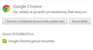 Google Chrome 25.0.1364.172 m Yükle