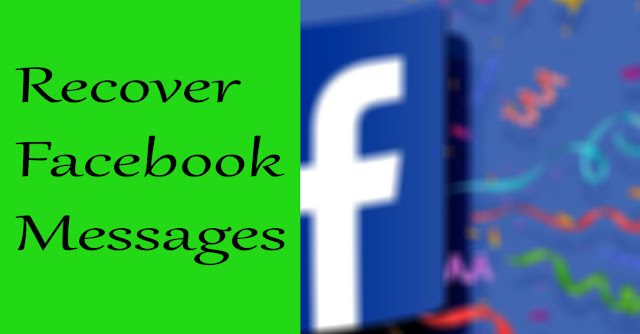 How to recover permanently deleted messages on facebook on pc