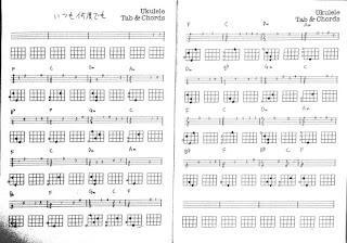 ジブリ映画「千と千尋の神隠し」のテーマソング「いつも何度でも」のタブ譜
