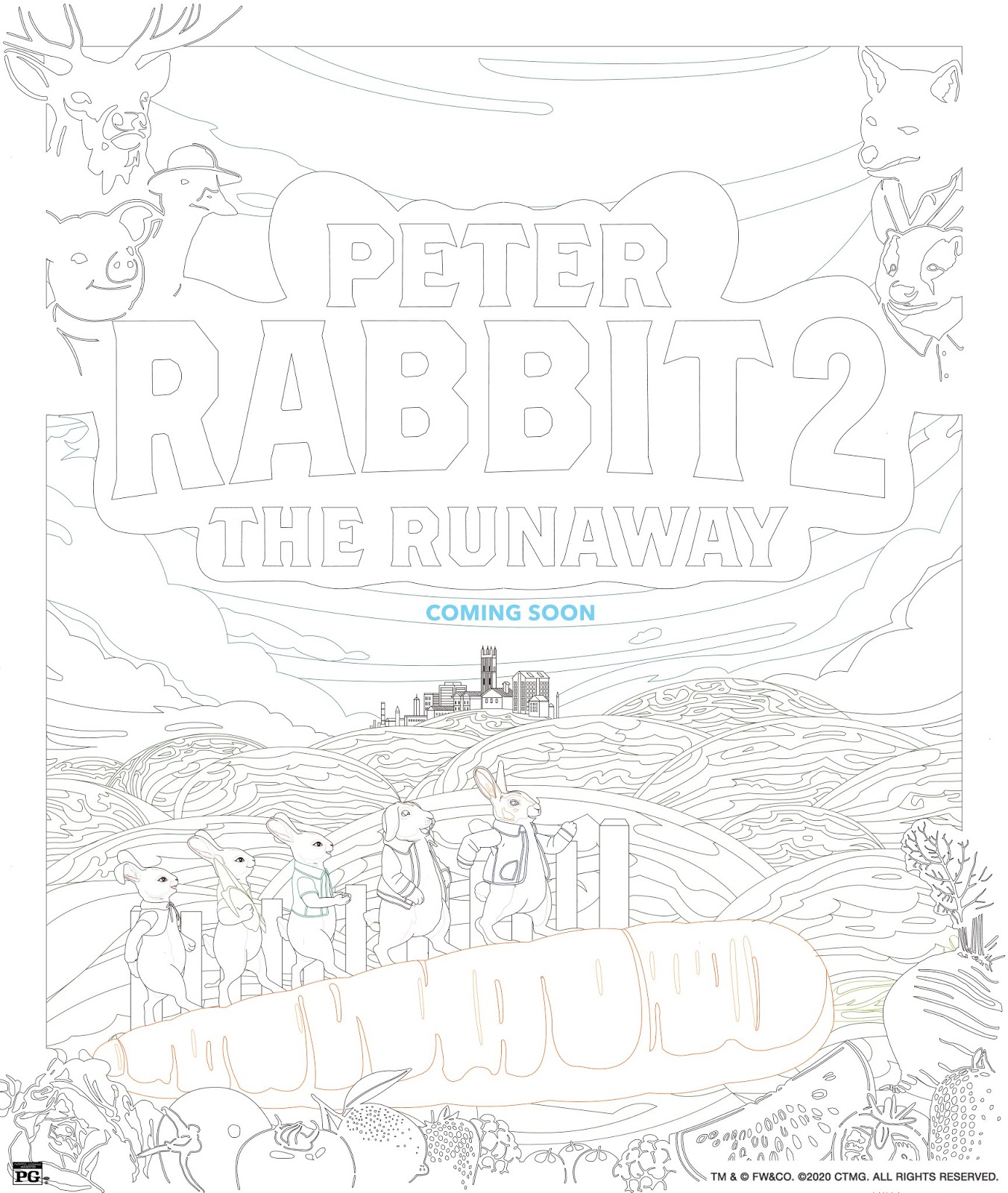 Peter Rabbit 2 Coloring Sheet