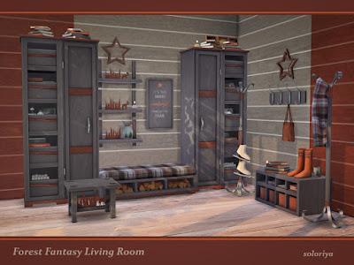 """""""Лесная фантазия"""" - мебель и декор для Sims 4 со ссылкой для скачивания"""
