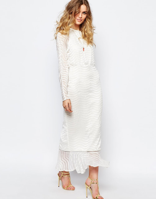 stevie may white dress, long sleeve white maxi dress,