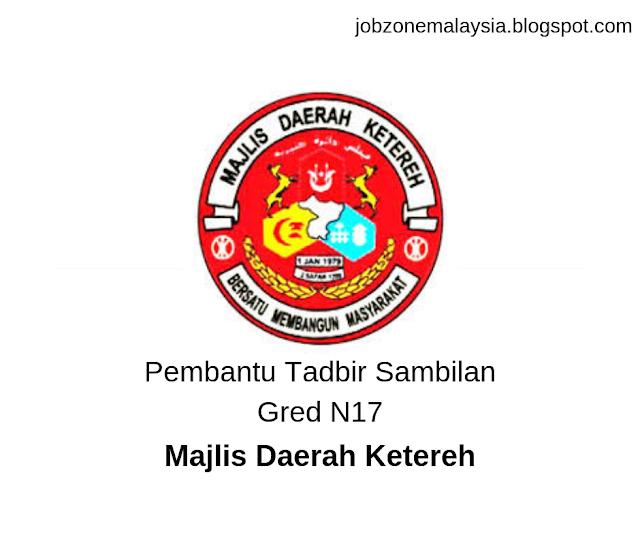 Pembantu Tadbir Sambilan Gred N17 - Majlis Daerah Ketereh