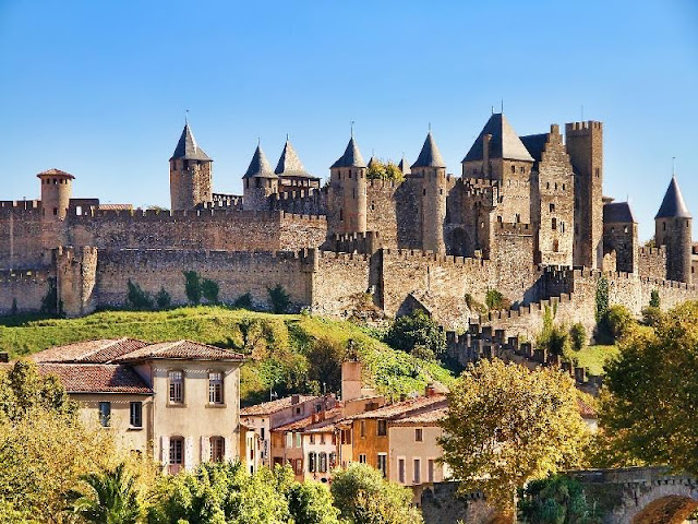 The ancient fort city of Carcassonne
