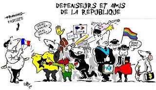 Fascist_defensuer_et_amis_de_la_republique the great le pen macron cartoons memes meme ideas archive