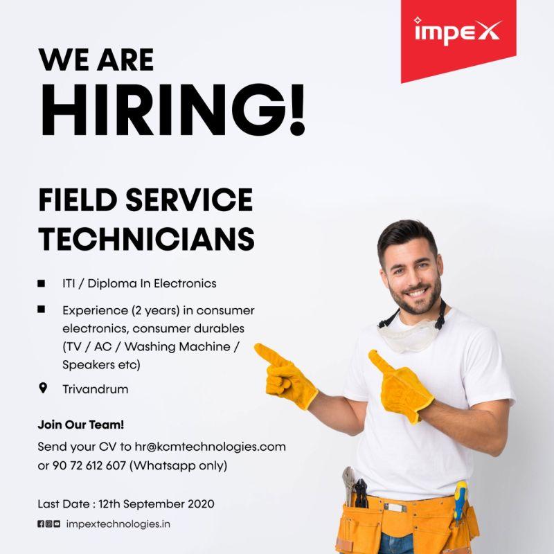 KCM Appliances Pvt. Ltd. Hiring ITI/Diploma Candidates For  Field Service Technicians