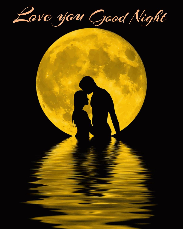 Sweet good night kiss pic | good night image for love