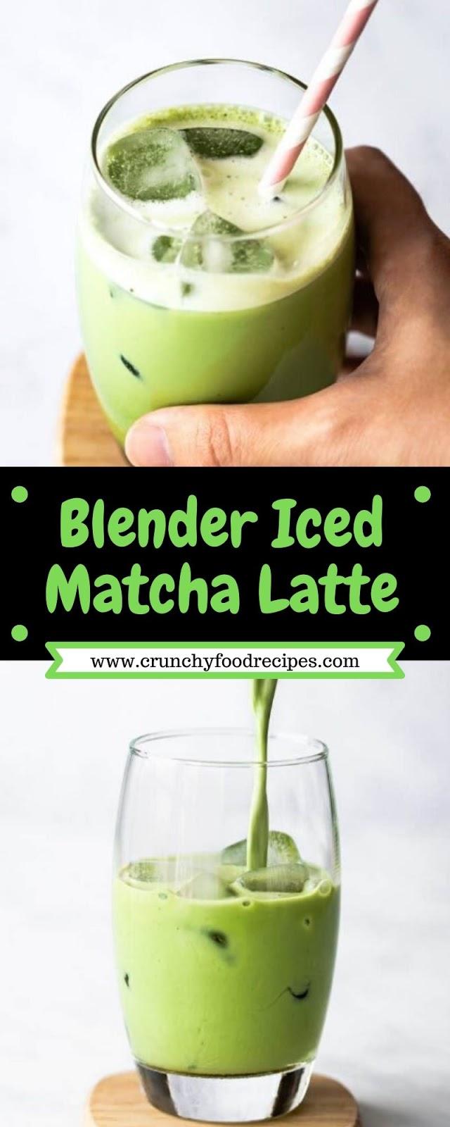 Blender Iced Matcha Latte