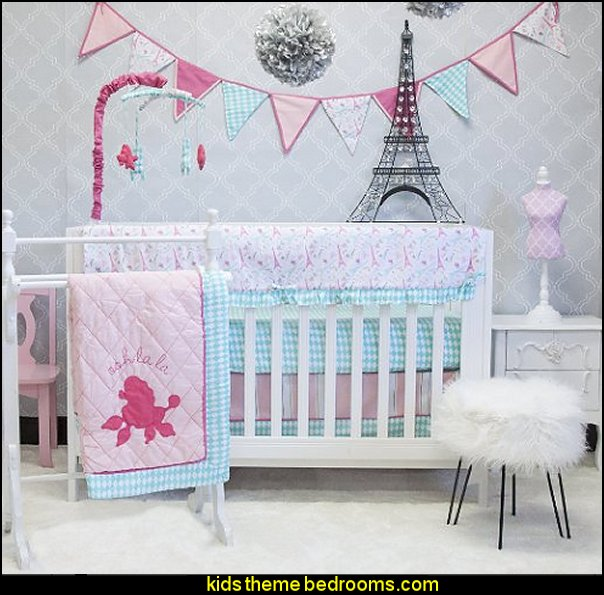 Pam Grace Creations Paris 10 Piece Crib bedding