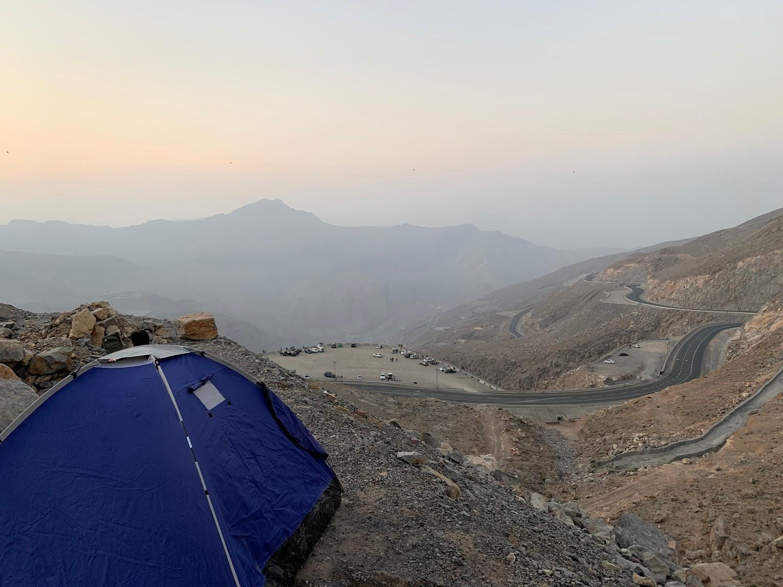 My Yellow Bells : Camping at Jebel Jais, Ras Al Khaimah