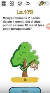 Monyet Memetik 2 Nanas dalam 1 Menit Dia Di Atas Pohon Selama 10 Menit Bisa Petik Berapa Buah Brain Out