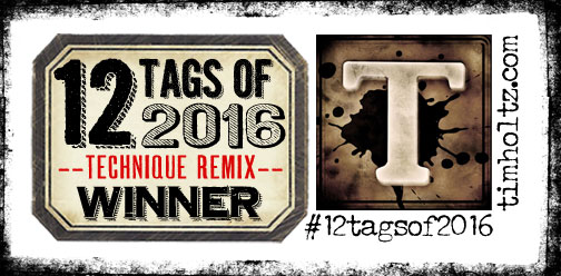 Tim Holtz 2016 March Tag