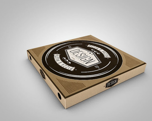 Mock Up Boxes : Pizza Design Mockups