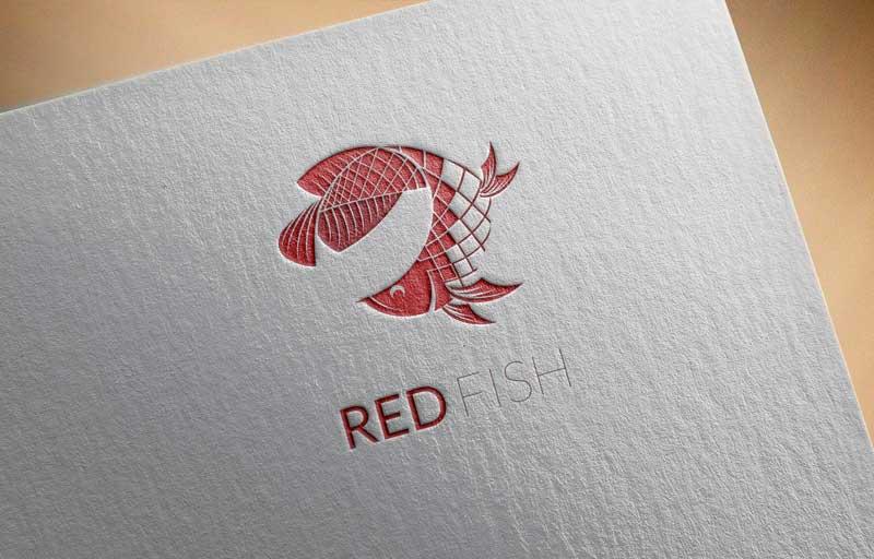 Download Free Red Arowana Fish Logo for Business