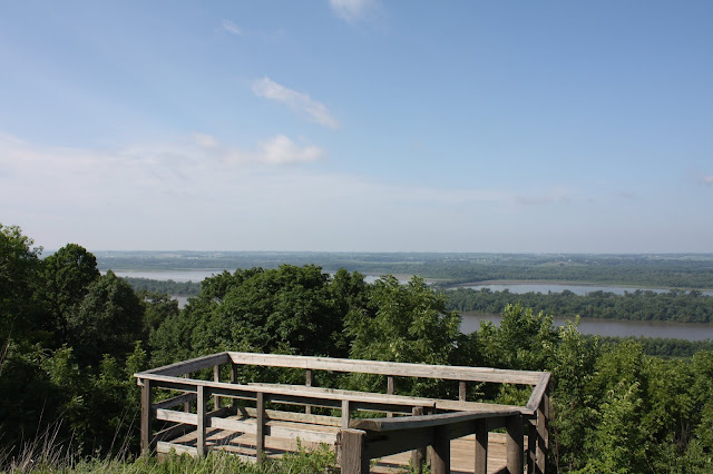 View from one of the overlooks at Pere Marquette State Park