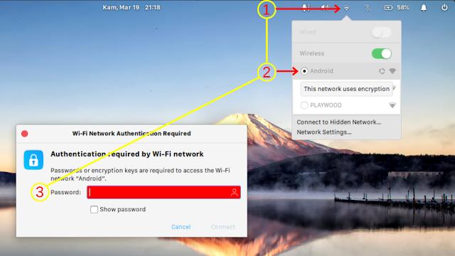 Aktifkan Jaringan Wi-Fi di linux