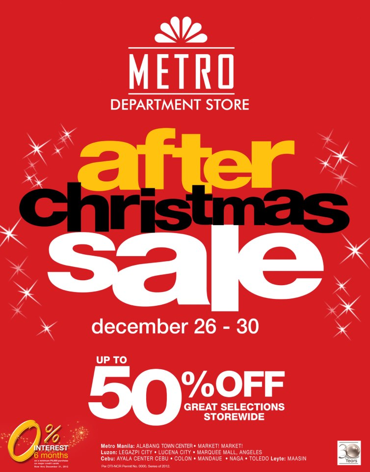 Manila Shopper Metro Stores After Christmas Sale 2012