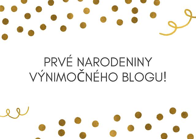 Prvé narodeniny výnimočného blogu!