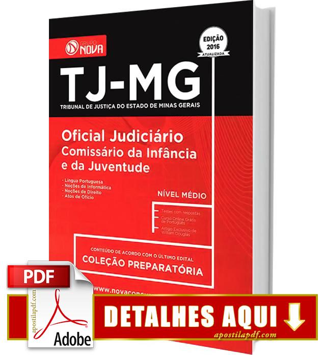 Apostila TJ MG 2016 Oficial Judiciário Impressa