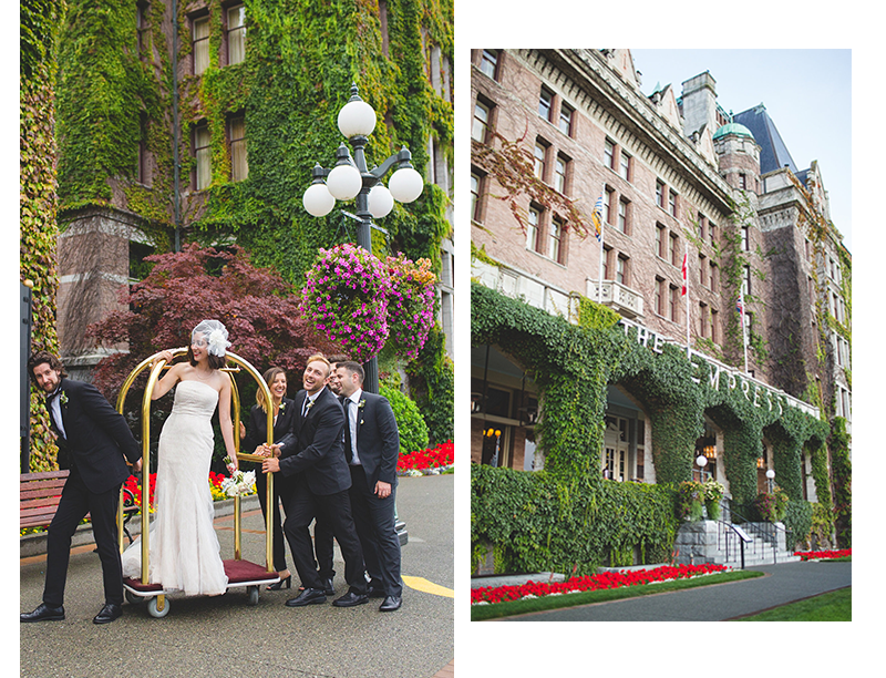 Adventures in Fashion's vintage-inspired wedding at the Empress Hotel