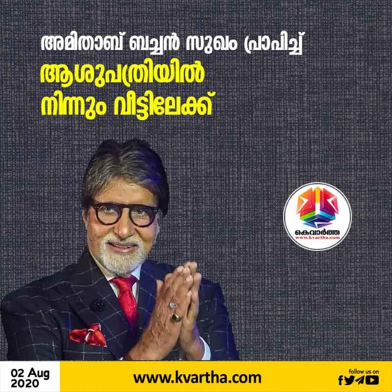 Amitabh Bachchan Discharged from Hospital After Testing Covid-19 Negative. Amitabh Batchan, Abhishek Bachan, Twitter, hospital, Treatment, Actor, Bollywood, National, Cinema.