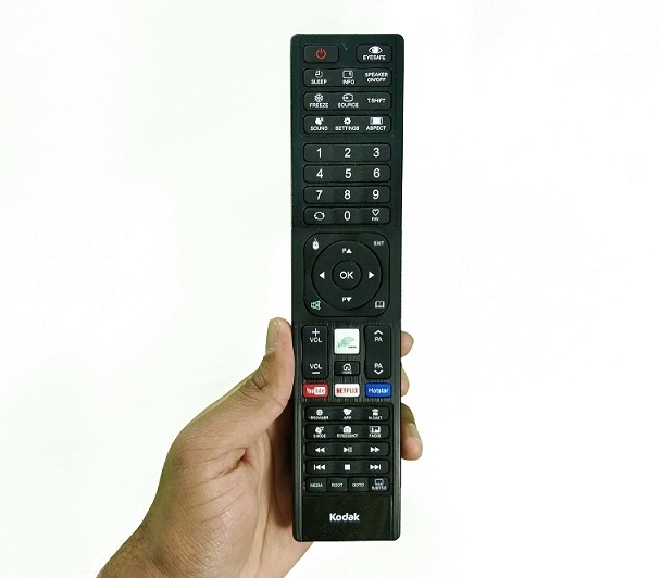Kodak REMOTE playing 4K UHD TV