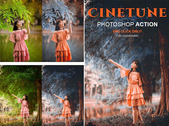 Cinematic Color Grading Effects Photoshop Action 2020