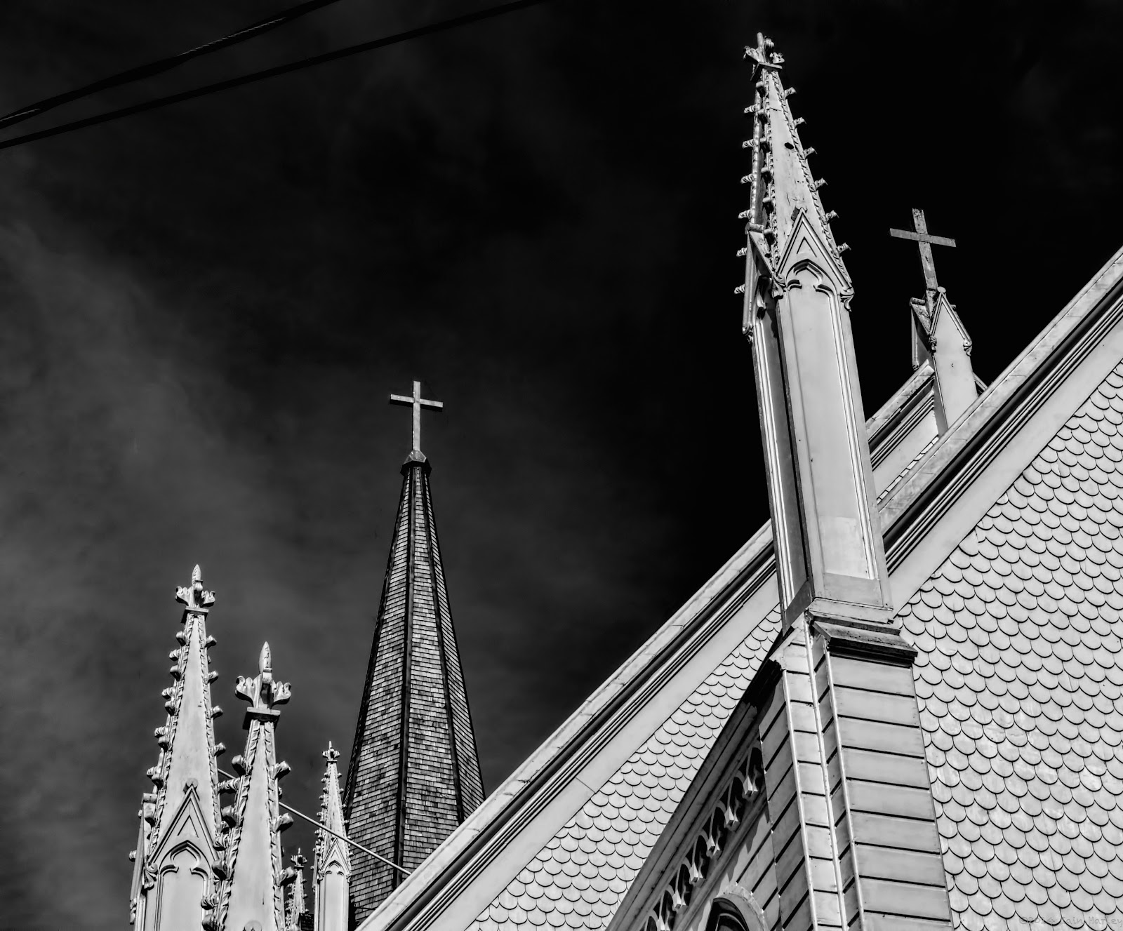 Church Spires in black & white