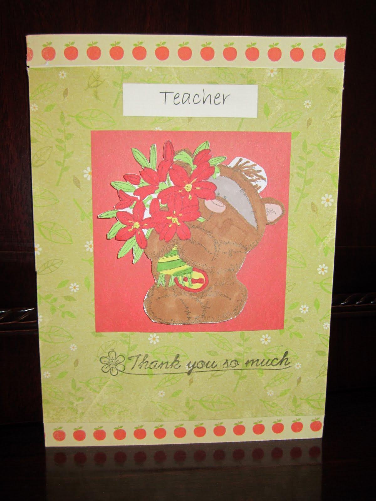 hayley goes handmade thank you teacher card