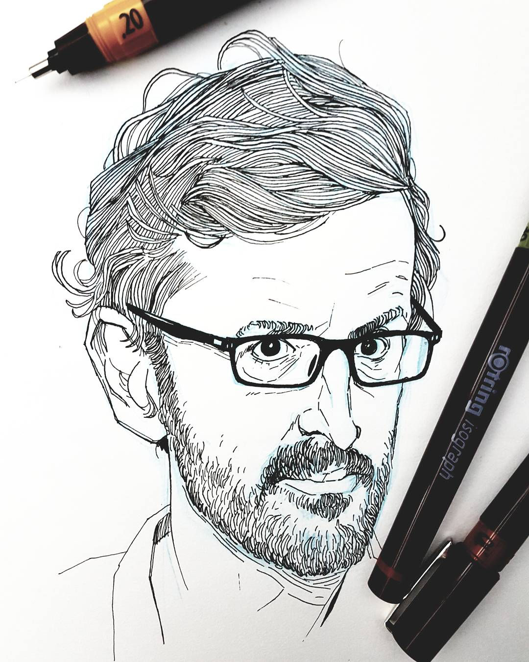 Louis Theroux Drawing