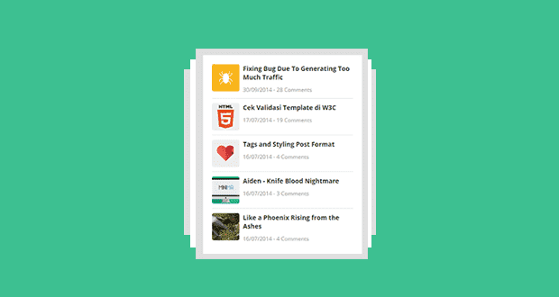 Cara Membuat Widget Recent Post di Blog