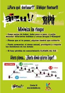 Cartel de la campaña de prevención de abuso del alcohol y las drogas